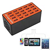Adealink 20 Ports USB Hub Smart Charger High Power Fast Charging Station for Tablet Laptop Smartphone