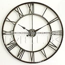 AYYA wall clock Creative Simple craft European Mediterranean living room study wrought iron, black