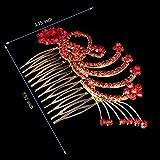 ROFIFY Rhinestone Crystal Hair Accessories Wedding Bridal Flower Combs Tiara Hair Jewelry FJ14