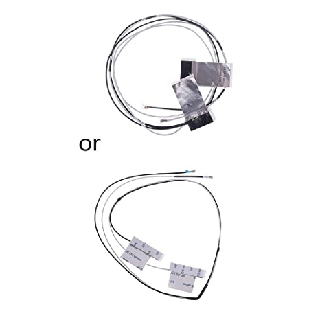 1 par de antenas internas para ordenador portátil Mini PCI-E inalámbricas WiFi, color