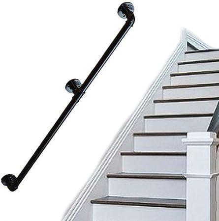 LIUSU-Stair handrail Barandillas De Escalera Forjada De Hierro Antideslizante Montadas En La Pared Old Man Kindergarten Childrens Loft Pasamanos Interior Y Exterior Pasillo Pared Escalera Barandilla: Amazon.es: Hogar