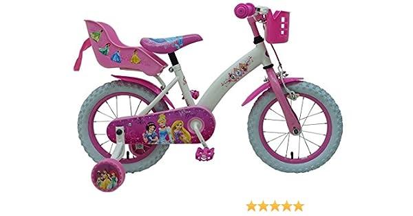 Disney Bicicleta Chica Princess 14 Pulgadas Portamuñeca y Cesta ...