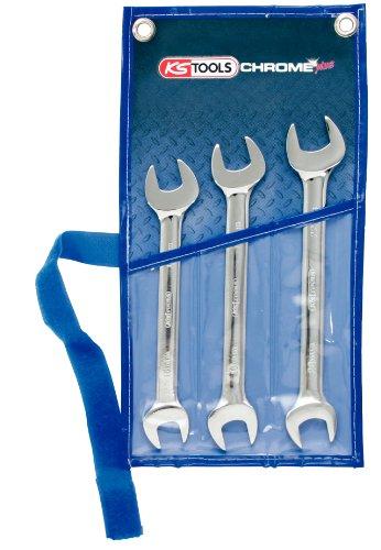 KS Tools 518.0743 Chrome Plus Doppel-Maulschlüssel-Satz, 3-teilig, 21 x 23-30 x 32 mm