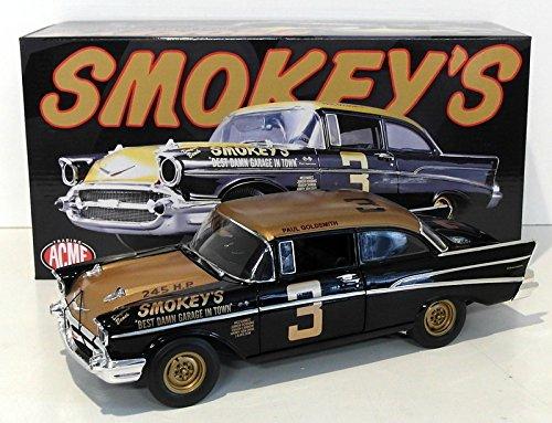 1957 Chevrolet Bel Air Stock Car Smokey Yunick's #3 Black and Gold