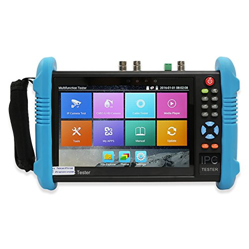 Wsdcam 7 Inch IPS Touch Screen IP Camera Tester CCTV Tester CVBS Analog Tester with HD-TVI/HD-CVI/AHD/SDI/POE/WIFI/8G TF Card/4K H.265/HDMI In & Out/RJ45 TDR/Firmware Update 9800ADHS Plus
