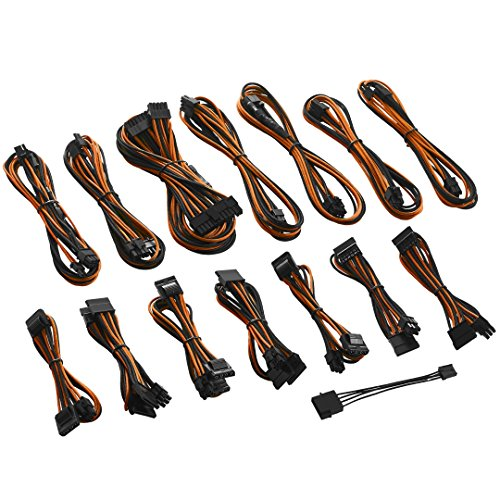 Orange Cable Power Cable - CableMod C-Series ModFlex Cable Kit for Corsair RMi/RMX/RM (Black Label) - Black/Orange [cm-CSR-FKIT-KKO-R]