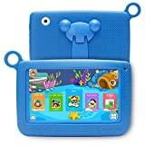 Kids Goods Best Deals - NPOLE Kids Tablets Android 7 Inch 1280x800 IPS Display with Parental Control Software - iWawa Wifi Camera 3D Game HD Video Supported Blue
