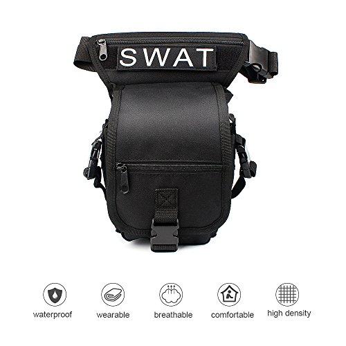 Hüfttasche Beintasche mit funktioniertem Kopftuch ELEPOWSTAR für Camping, Wanderung, Bergsteigen