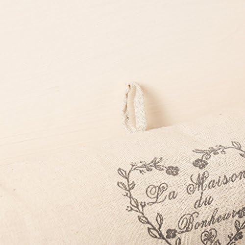 Dibor beige cuore ricamato porta paraspifferi stopper cuscino/ /W80/CM
