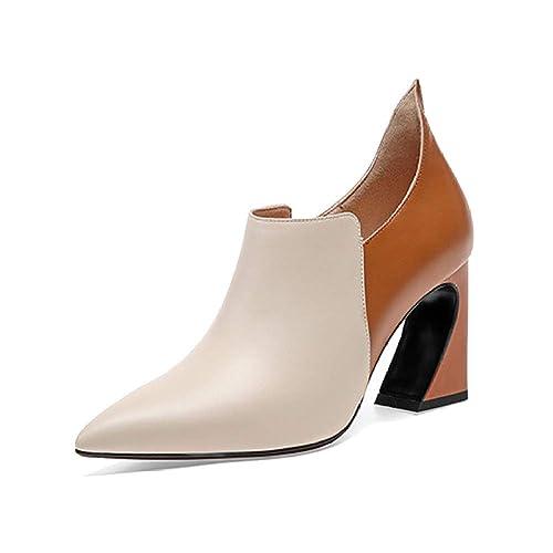 YCGCM Botines De Tacón Alto, Elegantes Y Sencillos para Mujer De Otoño E Invierno.: Amazon.es: Zapatos y complementos