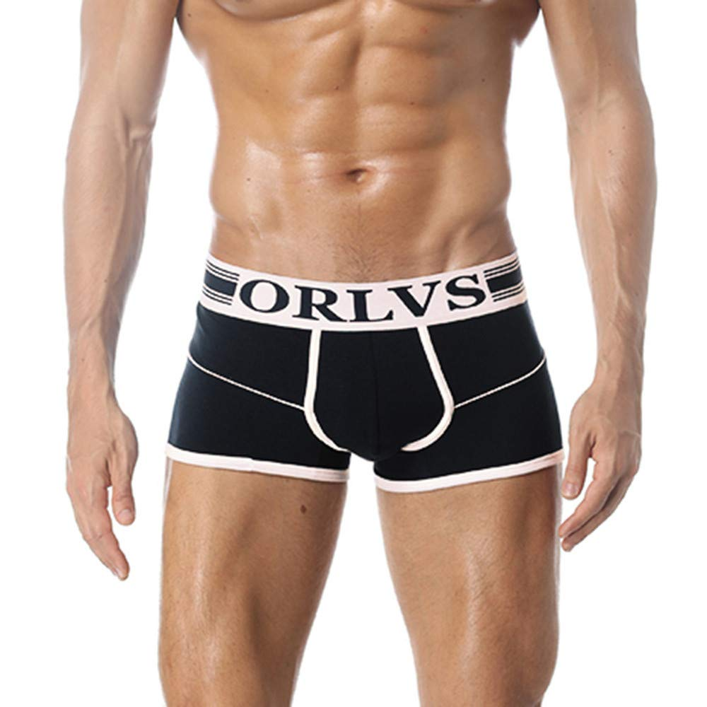 Underwear Briefs, NRUTUP Men's Boxer Briefs Cotton Fashion Sexy No Ride Up Underpants HOT SALE!(Navy,EU:39/CN-XL)