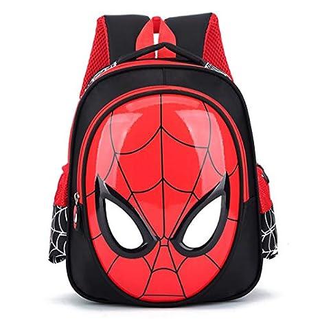 Mochila Escolar Impermeable para niños Spiderman - Negro: Amazon.es: Equipaje