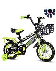 Fiets jongen Children's fiets met zijwieltjes Kids Bike for jongens of meisjes van 03-12 december □ 14 □ 16 □ 18 □ 20 □ Carbon stalen frame ( Color : Yellow , Size : 18inch )