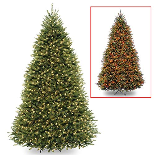 - 9' Pre-Lit Full Dunhill Fir Artificial Christmas Tree - Multi-Color/Warm White LED Lights