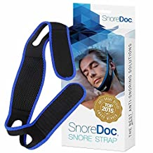 Snoredoc(TM) Anti-Snoring Chin Strap Device - Snore Sleep Aid That Will Stop Snoring & Ease Breathing - Effective Snoring Relief - Natural Snore Stopper Jaw Support - Comfortable & Adjustable