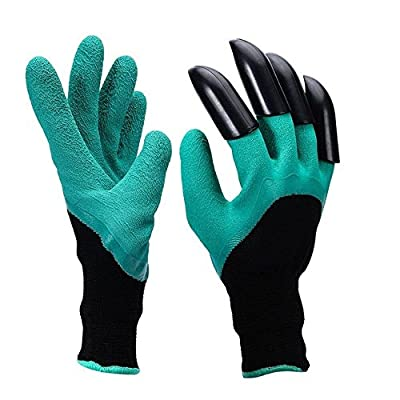 1 Pair Genie Gardening Gloves 4 Abs Plastic Claws- For Digging And Planting Rose as seen on tv