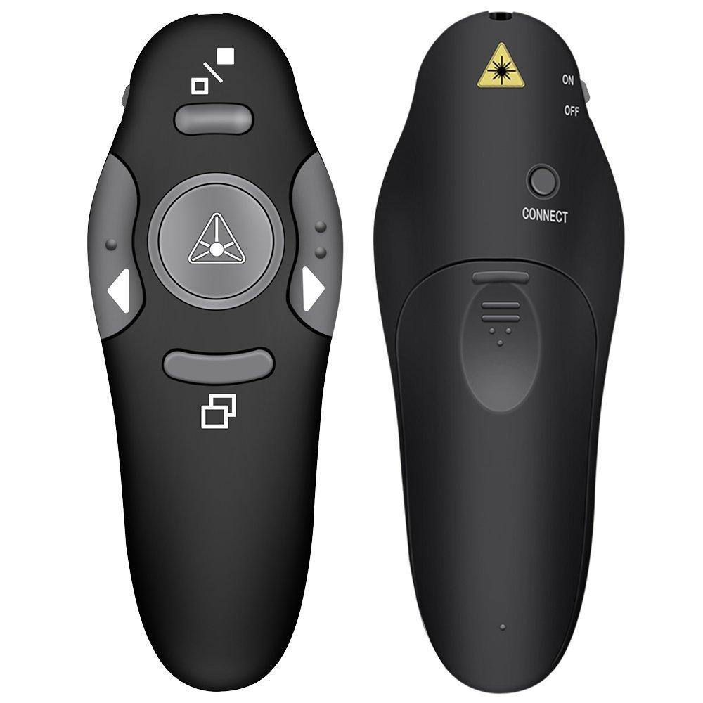 DinoFire Wireless Presenter RF 2.4GHz USB Presentation PowerPoint Clicker PPT Remote Control Pointer Slide Advancer Support Mac by DinoFire (Image #10)