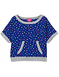 Toddler Little Girl's Double Layered Print Crop Top