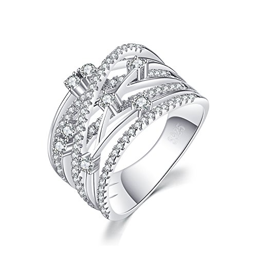 JewelryPalace Women's Cubic Zirconia Cocktail Ring 925 Sterling Silver