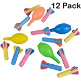 "Foam Rocket Launchers Set With Hand Pump - 12 Pack Of 3 1/2"" Inch Rockets - For Kids, Parties, Birthdays, Gifts, Party Favors, Etc. - Kidsco"