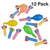"Kidsco Foam Rocket Launchers Set Hand Pump - 12 Pack of 3 1/2"" inch Rockets Kids, Parties, Birthdays, Gifts, Party Favors, Etc"