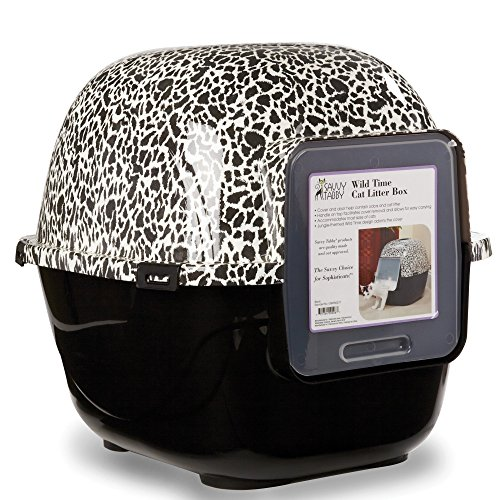 Savvy Tabby Wild Time Cat Litter Boxes — Covered Litter Boxes for Cat Litter, 2-Packs (Washroom Litter Box Cat)