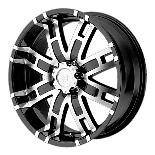 Helo HE835 Gloss Black Machined Wheel - (17x8