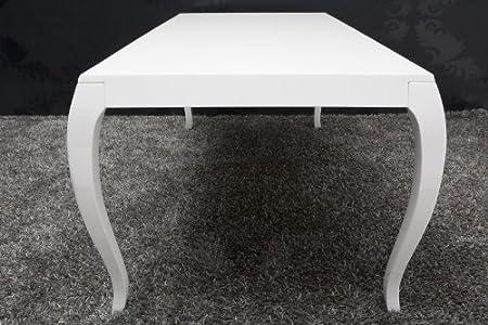 Perfekt Barock Esstisch Hochglanz Weiß 200cm   Esszimmer Tisch   Barock Möbel Modern:  Amazon.de: Küche U0026 Haushalt