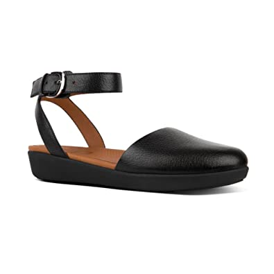 FitFlop Women's Cova Closed-Toe Suede Sandal Black