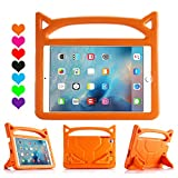 Lmaytech iPad 9.7 2018 & 2017 Release/iPad Air Case, Light Weight Shock Proof Handle Stand Case Cover Kids Friendly for Apple iPad 9.7' (6th Gen, 5th Gen) / iPad Air (Orange)