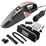 Car Vacuum Cleaner,High Power Portable Vacuum Cleaner for Car Wet/Dry Strong Suction 5000PA Handheld 12v with LED Light/16.4Ft Power Cord/Metal Fan/Stainless Steel Filter/Carry Bag for All Vehicles