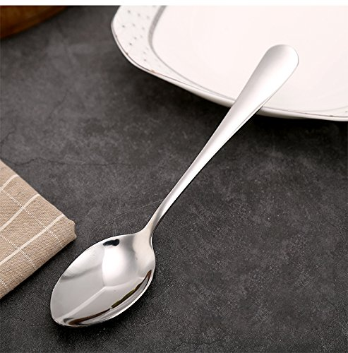 Hiware 12-piece Extra-Fine Stainless Steel Dinner Spoons, Use for Home, Kitchen or Restaurant - 7 1/3 Inches by Hiware (Image #4)