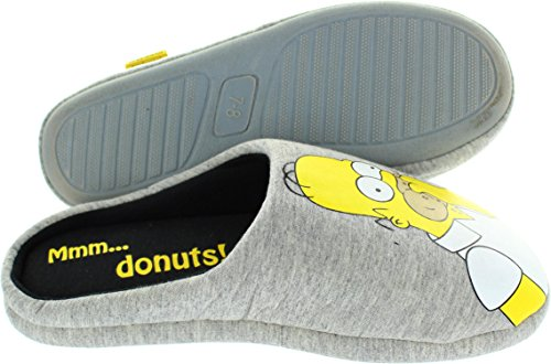 The Simpsons  Ex-display Mmmdonuts, Chaussons pour homme gris gris