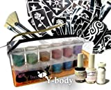 Glitter Tattoo Pro Kit 100 Tattoos - Water Proof Do It Yourself!