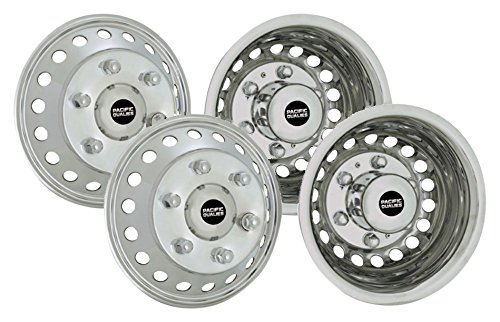(Pacific Dualies 44-1608A Polished 16 inch 6 Lug Stainless Steel Wheel Simulator Kit for 2012-2019 Ford Transit Bus, 2012-2019 Dodge, Mercedes and Freightliner Sprinter Van)