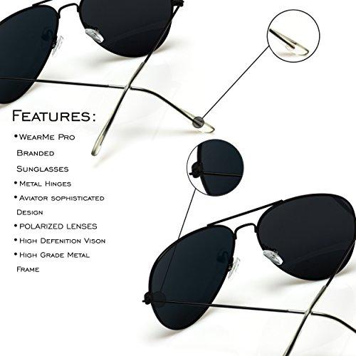 clásicas nbsp;estilo Mirror sol Lens Pink aviador de diseño y polarizada prémium de Pro Gold modernas con Frame WearMe Gafas lente xqwBgvSX