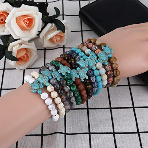 8bd3c71e26 Small Oranges Summer Style Sea Turtle Beads Bracelets for Women Men Classic  14 Colors Natural Stone