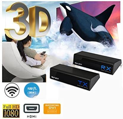 Measy W2H H303 Wireless Video Transmisor y Receptor DVI para ...