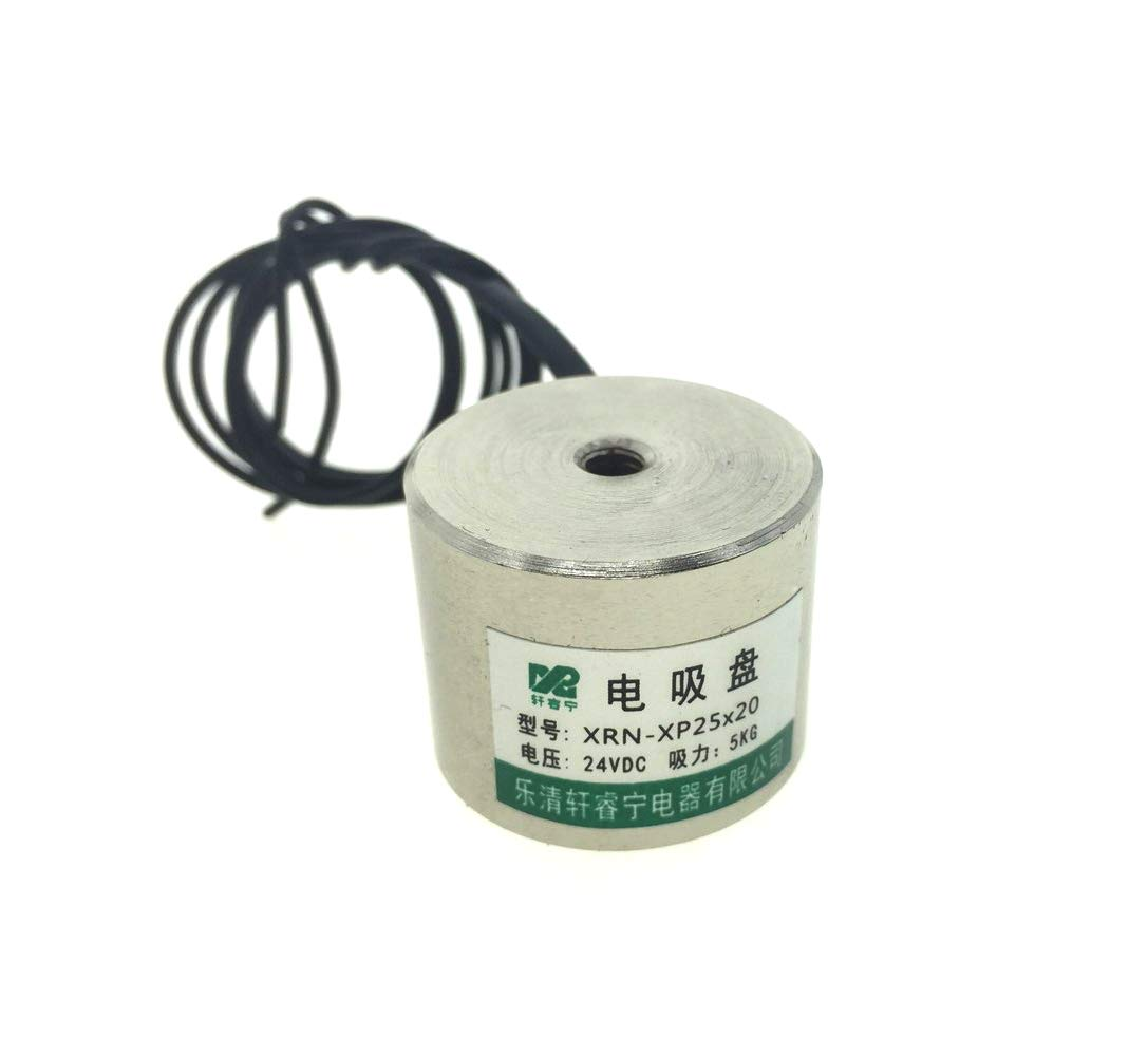 25x20mm Wired Connector Electric Lifting Magnet Electromagnet Solenoid,DC 24V 0.33Amp 5KG
