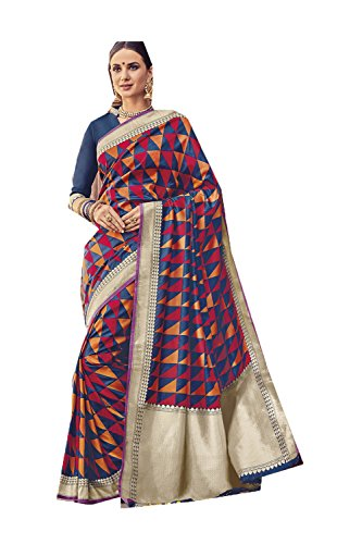 itsindiancrafty Indian Sarees for Women Wedding Designer Party Wear Traditional Multi Sari. by itsindiancrafty