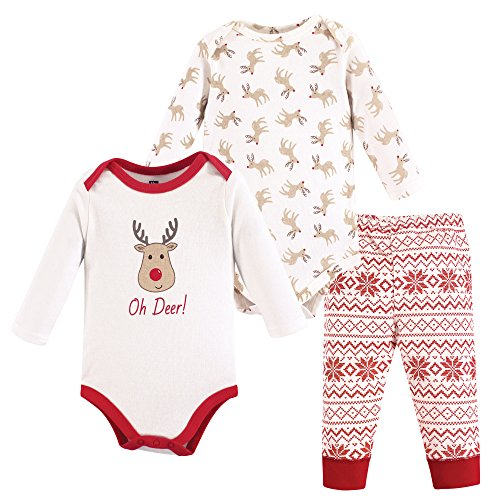 Reindeer Baby Costume (Hudson Baby Baby Bodysuit and Pant Set, Reindeer, 3-6 Months)