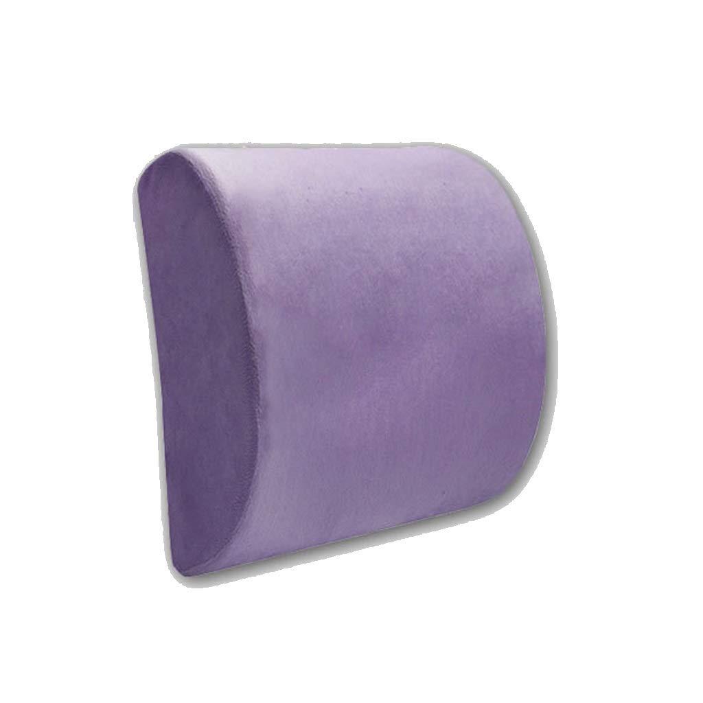 Memory foam lumbar support, back relief pain balance sturdy design for lumbar pain relief 32cmx30cmx10cm (color : Gray)