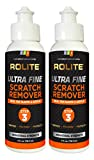 Rolite Ultra Fine Scratch Remover (4 fl. oz.) for Plastic & Acrylic Surfaces Including Marine Strataglass & Eisenglass, Headlights, Aquariums 2 Pack