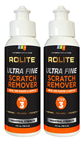 Rolite Ultra Fine Scratch Remover (4 fl. oz.) for Plastic & Acrylic Surfaces including Marine Strataglass & Eisenglass, Headlights, Aquariums 2 - Glasses From Scratches Remove