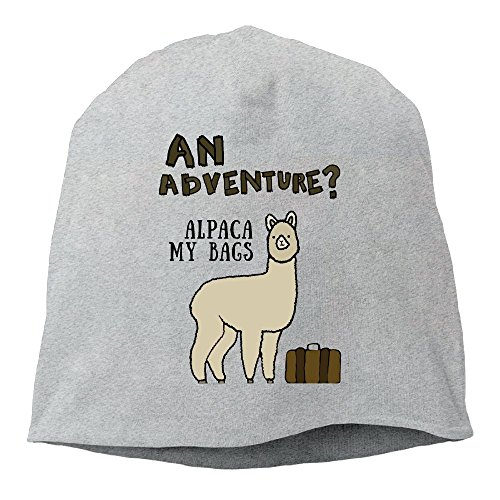 DMN Fashion Solid Color Adventure Alpaca Wool Hat For Unisex Ash One Size