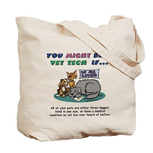 CafePress–Bolsa–Puede Ser un veterinario Tech–Gamuza de bolsa de lona bolsa, bolsa de la compra