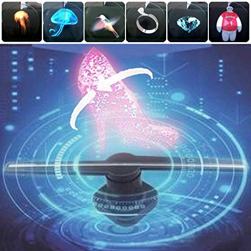 Allrise 3D Hologram Advertising LED Fan, displaying 3D Holographic Photos and Videos, Promotional Advertising Player Machine (46.5cm/18.31in - Pa Malls Outlet In