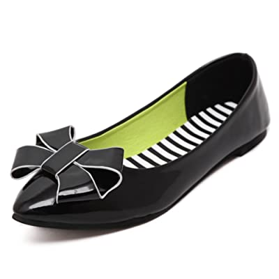 Shallow-mouth Butterfly-knot Flat Shoes/Flat And Stylish Hundreds Of Sweet Shoes