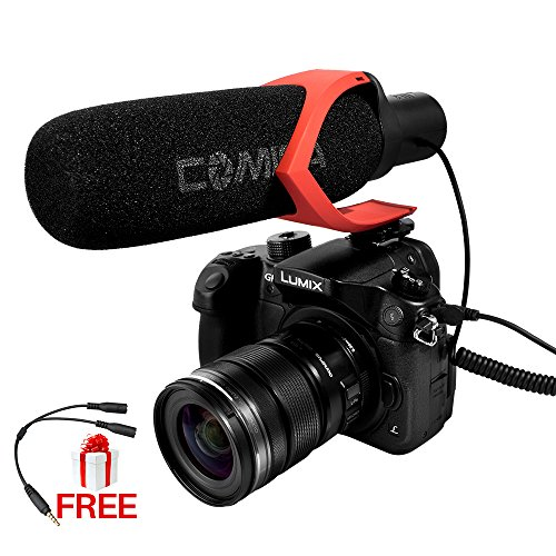 Ulanzi Comica CVM-V30 Shotgun On-Camera Microphone,Hyper-Cardioid Directional Condenser Mic For Photography Interview Youtube Vlogging For Nikon Canon DSLR Camera Camcorder