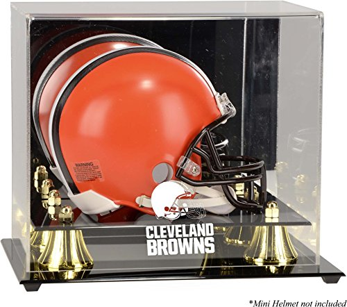 Browns Logo Display Case - Mounted Memories Cleveland Browns Mini Helmet Display Case